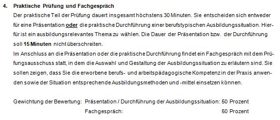 """Abbildung ist entnommen aus """"Infos zur schriftlichen und mündlichen Ausbildereignungsprüfung"""" der IHK Düsseldorf:"""