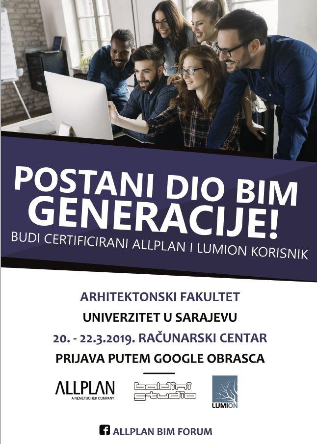 Besplatna Studentska Allplan I Lumion Edukacija Arhitektonski Fakultet Unsa