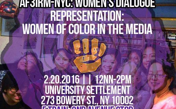 NY   Women's Dialogue on Representation: Women of Color in the Media on February 20