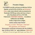 AFABB-ES promove café da manhã com debate sobre CGPAR, PREVI e PLP 268