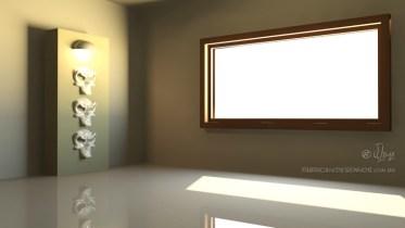 Iluminação de ambiente em 3Ds Max.