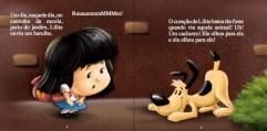 menina cao escola livro ilustrado desenhos cartum infantil autor independente