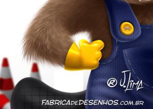 castor mascote personagem construcao obra pedreiro Beaver mascot character construction mason work by j.lima 3