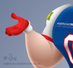Mascote mascot design character personagem desenho futebol americano super bowl futball jogador player j. lima 1