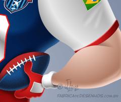 Mascote mascot design character personagem desenho futebol americano super bowl futball jogador player j. lima 4