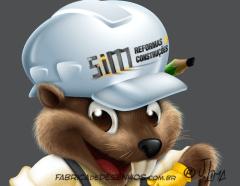beaver castor mascot design character mascote personagem 3d desenho cartoon ilustracao capacete obra construtora arquitetura jlima 2