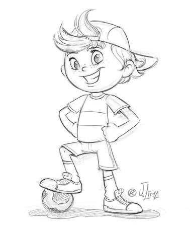 menino futsal futebol soccer boy face rosto mascote mascot design personagem character jlima desenho art concept ilustration ilustracao croqui esboço scketch rafi