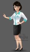 mascote personagem mulher moça garota secretaria design character mascot girl woman jlima ilustracao desenho 3d vetor colorido apresentando corpo