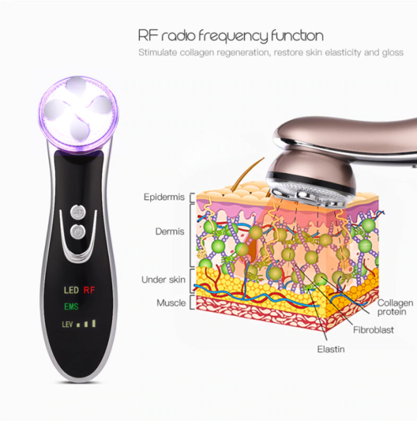 5 in 1 RF LED EMS Face Skin Lift Tightening Machine