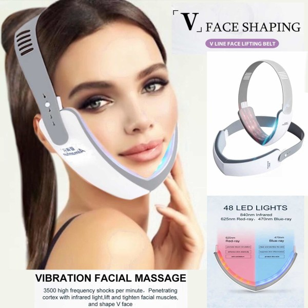 Jaw and Double Chin LED Therapy Slimming Device
