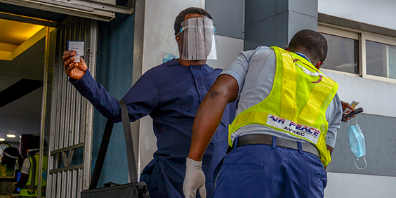 A,Passenger,Undergoing,A,Security,Check,The,The,Murtala,Airport