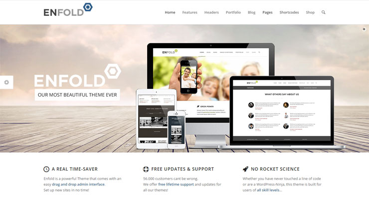Enfold WordPress Theme for Elegant Site