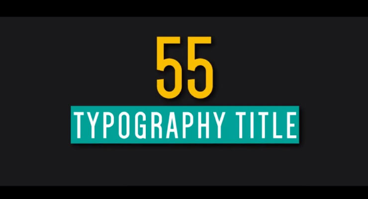 55 Qualitative Typhography
