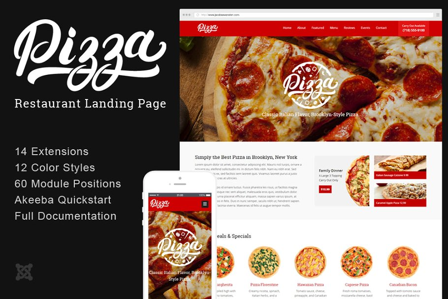 pizza restaurant landing page
