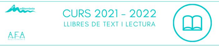CURS 2021- 2022 Llibres de text i lectura