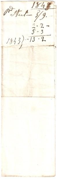 1842, [...] - 5/9. 2/2-. 5/3. 1843} 13/2