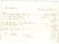 Mrs Oliphant. Bought of [Mr] [...]. [...] [...] [...]. (total) £-/18/4. Settled [...]
