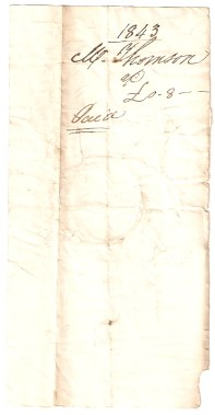 1843, Mr Thomson, £-/8/-, Paid