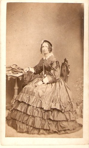 Margaret JOHNSTON (m. WALKER), sitting.