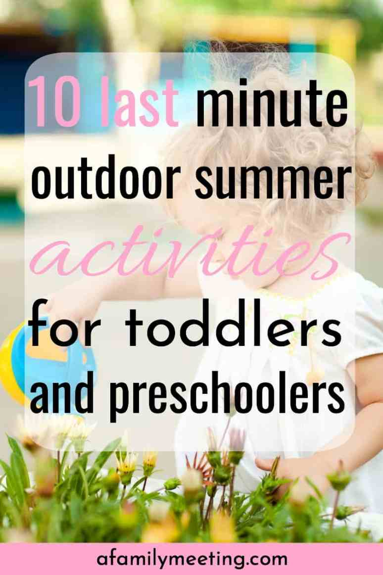 Before summer comes to an end, get outside and enjoy these 10 outdoor summer activities for toddler and preschooler. 2 year old summer activities. 3 year old summer activities. 4 year old summer activities. #outdoorsummeractivities #summerfun #summeractivities #outdoorfun2yearold #outdoorfun3yearold #goodparenting