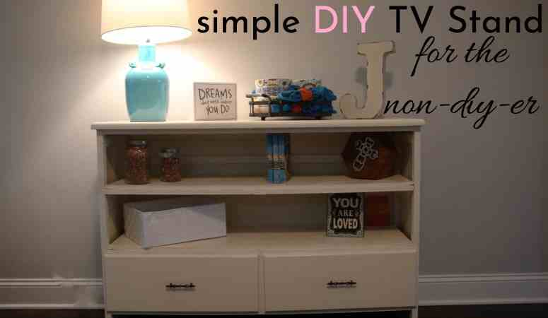 Simple DIY TV Stand For The NON-DIYer!