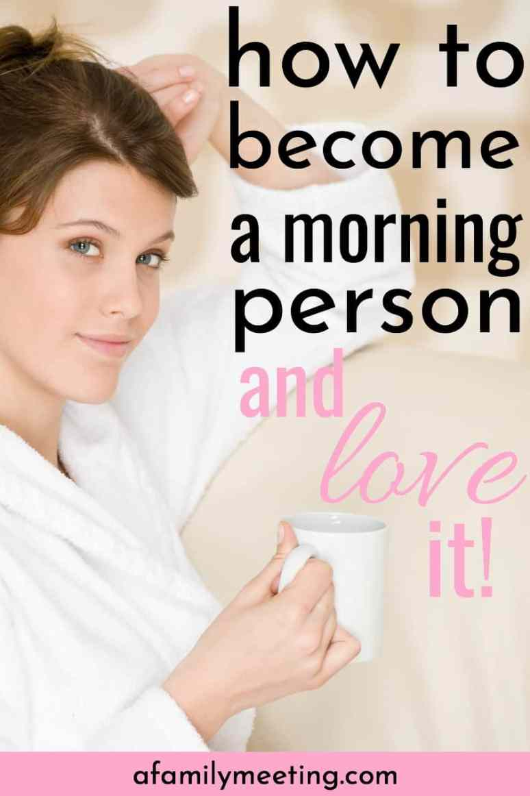 Want to know how to become a morning person when you prefer to be a night owl? When you're not a morning person, there's a secret you need to know about getting up in the morning. What makes you want to get out of bed in the morning? Become a morning person and love it! #morningroutine #morningperson #nightowl #getoutofbed #becomeamorningperson