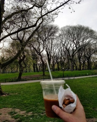 Roasted almond and coffee in Central Park