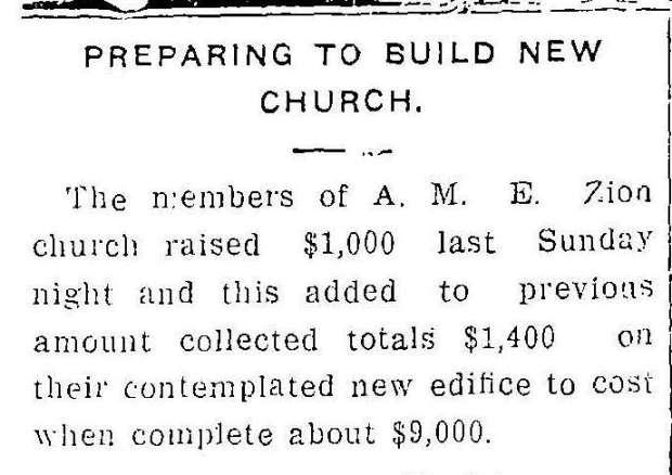WDT 5 19 1913 new AMEZ church