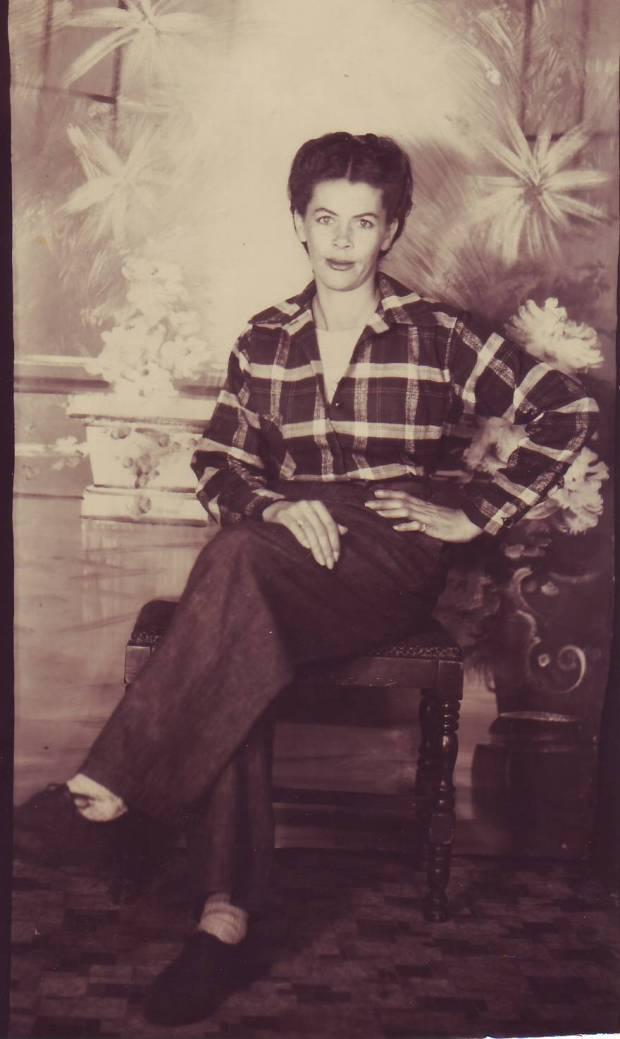 Hattie Henderson in trousers
