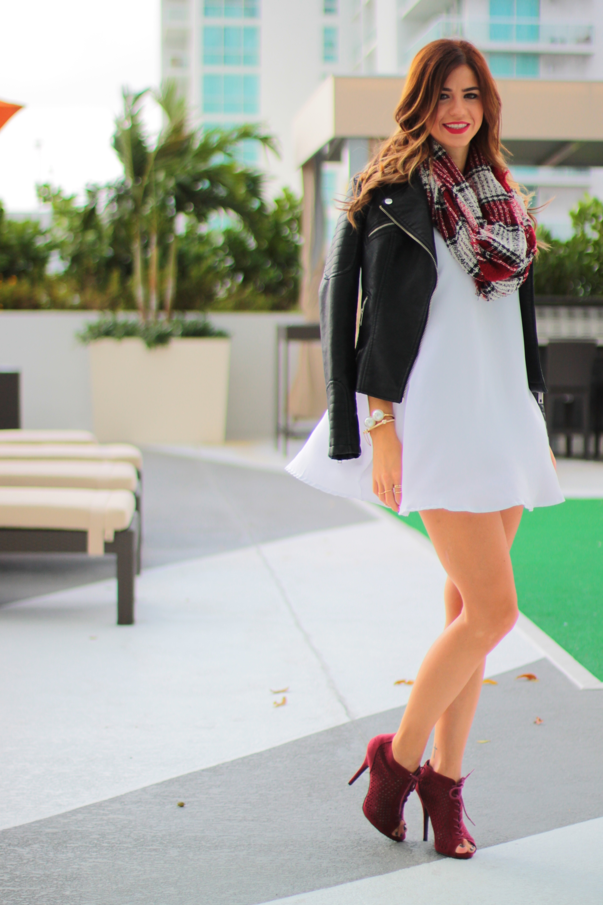 amanda tur, a fancy affair blog, street fashion, miami blogger, blog, fashion blog, zara, motto jacket, white dress, fall 2014