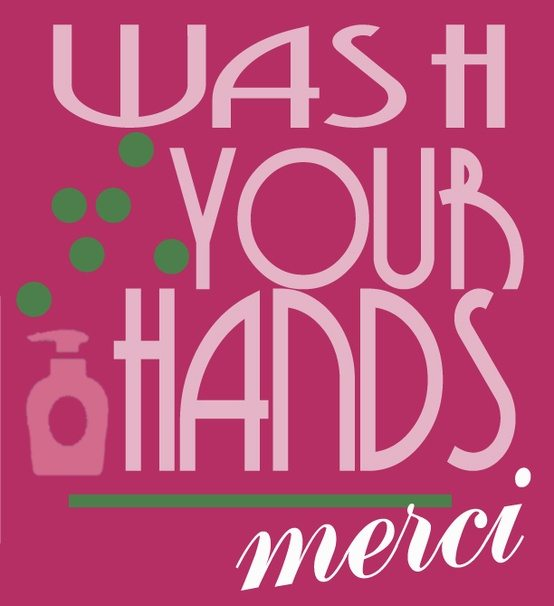 "Fancy Nancy Inspired ""Wash Your Hands"" Sign"