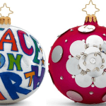 Meryl Streep and Michelle Smith for Milly Christopher Radko ornaments