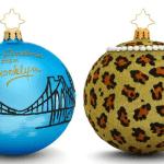Brooklyn Decker and Cyndi Lauper Christopher Radko ornaments