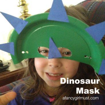 Green Dinosaur Mask | AFancyGirlMust.com