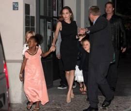 Zahara and Vivienne Jolie-Pitt in Pale Cloud