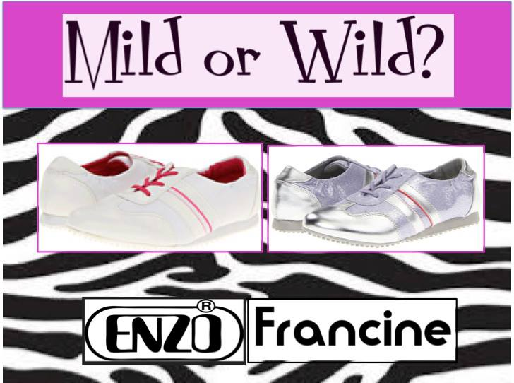 Enzo Girls Francine sneakers in either metallic or white fabric.