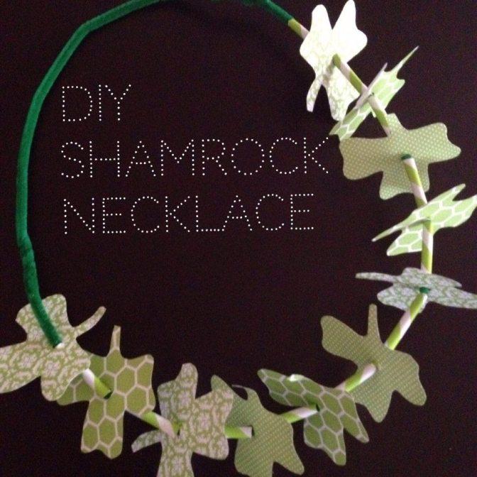 DIY Shamrock Necklace   AFancyGirlMust.com