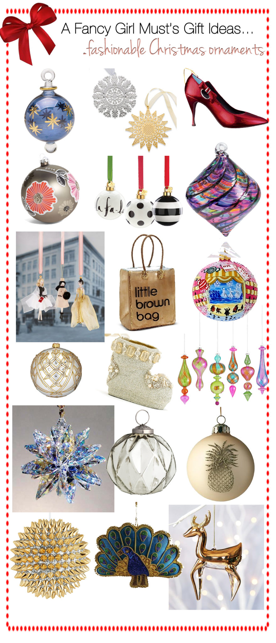 2014 Holiday Gift Guide: Fancy & Unique Christmas Ornaments