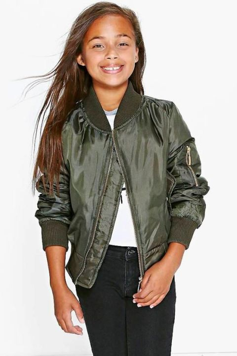 The bomber jacket is her must-have coat for spring
