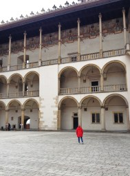 In the palace courtyard