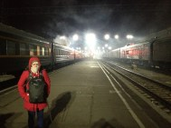 Arrived in Irkutsk about 4.30am, about -15 degrees....