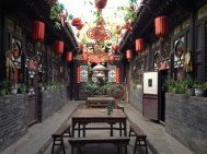 The courtyard of our genuine ming era hostel