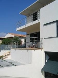 Casa en Colonia de Sant Pere. Detalle de la entrada.