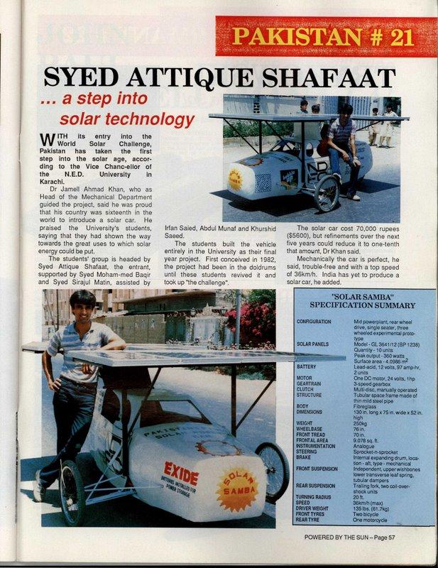 Pakistan  ki aklooti solar car (1/3)
