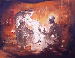 ahwach2 Portrait d'un Artiste Amazigh contemporain nommé  Yahia BOUKDIR أدب و فنون مشاهير آفيان