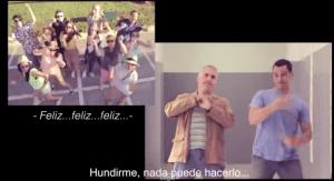 Alumnos del IES Abyla durante el videoclip