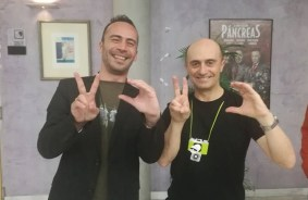 De izquierda a derecha, Antonio Jesús junto al actor español Pepe Viyuela.