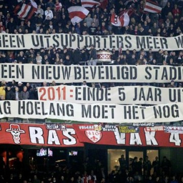 Ajax-supporters wederom de sjaak
