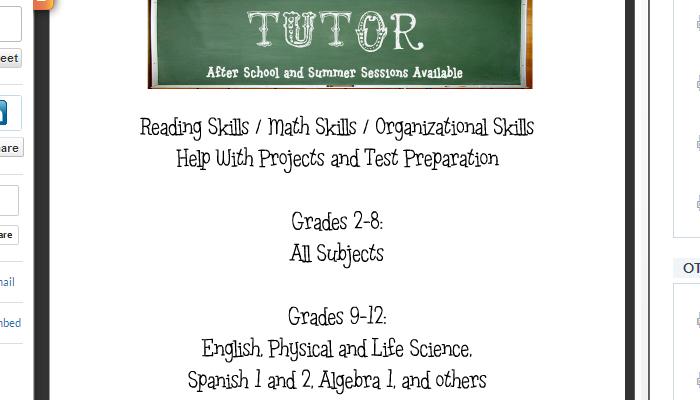 Tutoring Flyer Template Free. 15 cool tutoring flyers printaholic ...