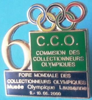 Foire Mondiale des Collectionneurs Olympiques Lausanne 2000 pin's officiel